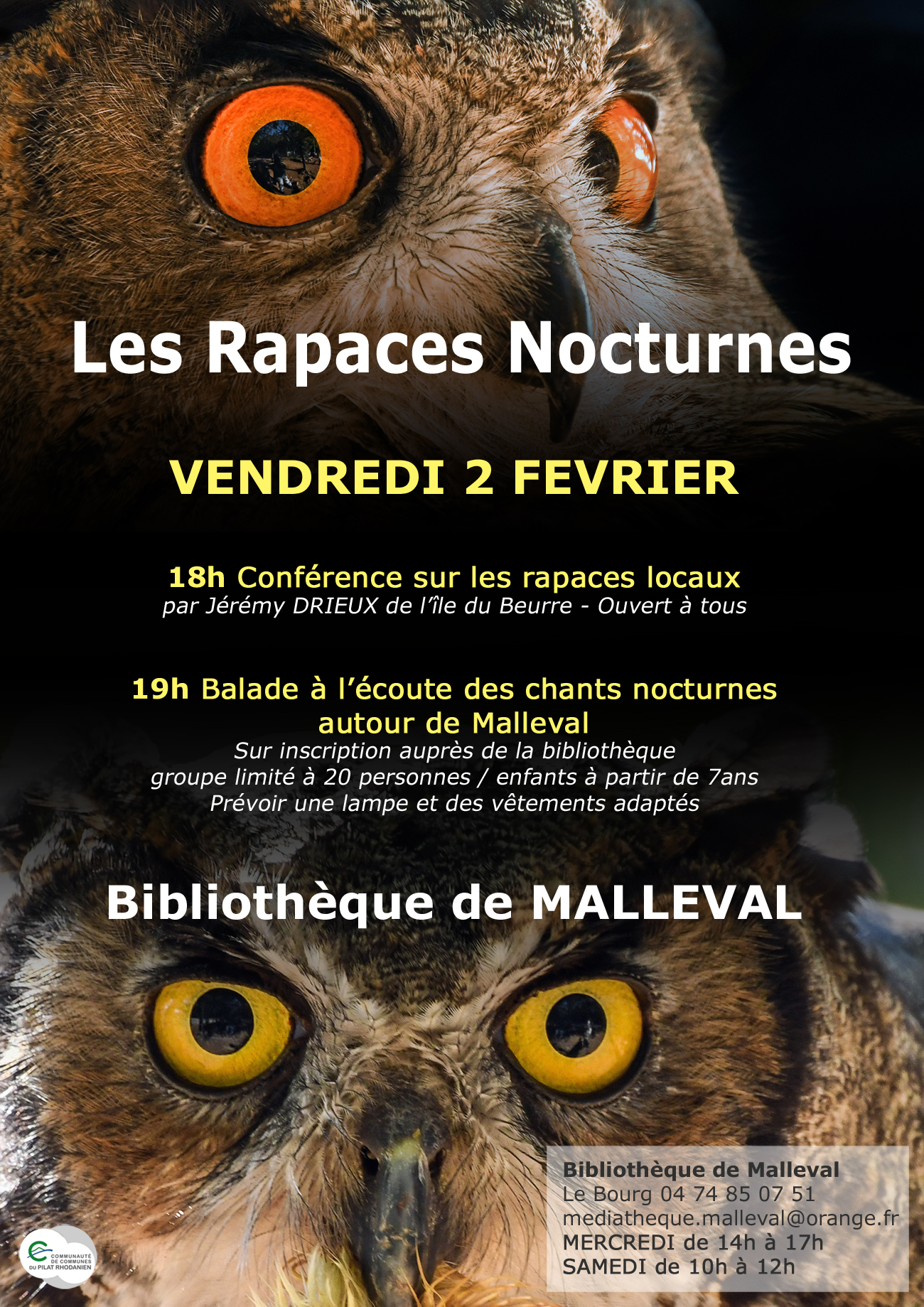 affiche malleval nuit
